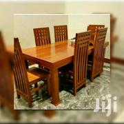 Big Wooden Table With 6 Chairs | Furniture for sale in Dar es Salaam, Kinondoni